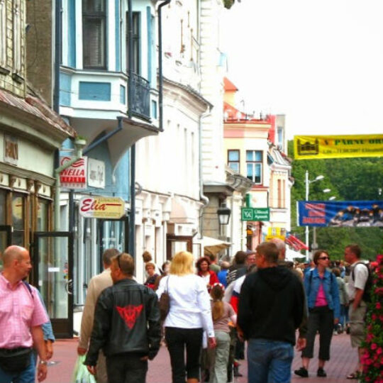 Rüütli Street - the pedestrian street of Pärnu